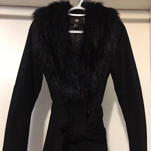 H&M Fur Collar Jacket - SIZE SMALL